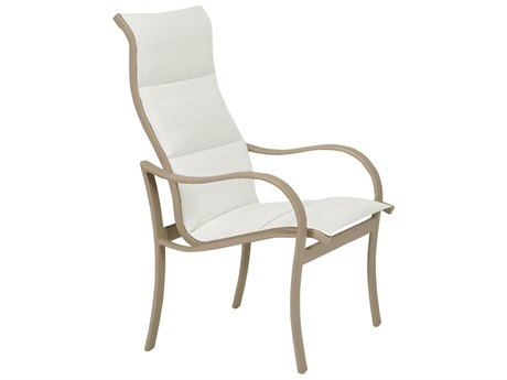 Tropitone Shoreline Padded Sling Aluminum High Back Dining Arm Chair