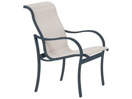 Tropitone Shoreline Sling Aluminum Dining Arm Chair