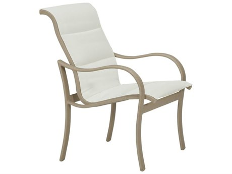 Tropitone Shoreline Padded Sling Aluminum Dining Arm Chair