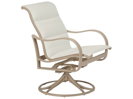Tropitone Shoreline Padded Sling Aluminum Swivel Rocker PatioLiving