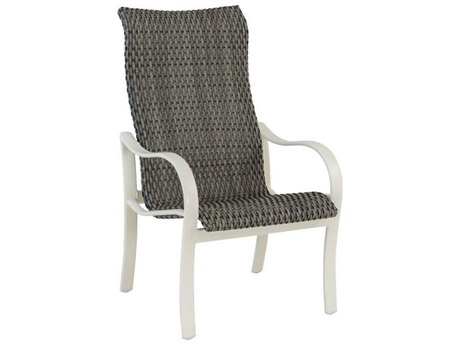 Tropitone Shoreline Woven Aluminum High Back Dining Arm Chair