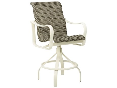 Tropitone Shoreline Bison Weave Aluminum Swivel Bar Stool 30