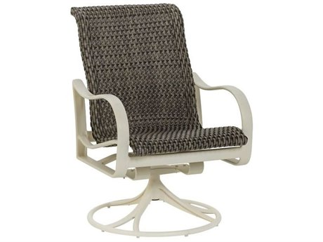 Tropitone Shoreline Bison Weave Aluminum Swivel Rocker