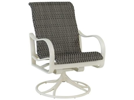 Tropitone Shoreline Bison Weave Aluminum Bison Weave High Back Swivel Rocker
