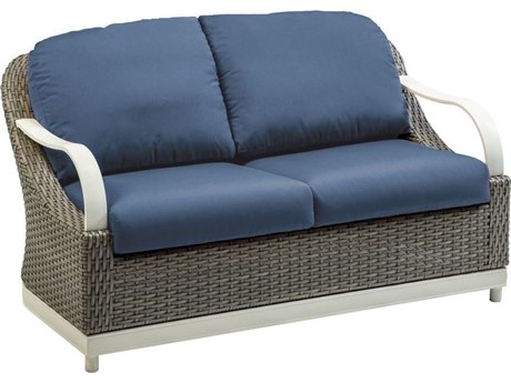 Tropitone Shoreline Cushion Hatch Weave Loveseat