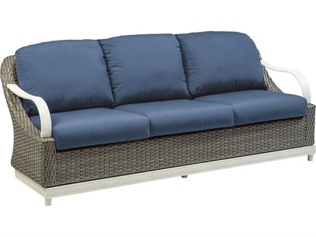 Tropitone Shoreline Cushion Hatch Weave Sofa