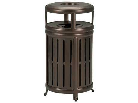 Tropitone Radiance Waste Aluminum Receptacle with Hood and Ash Urn