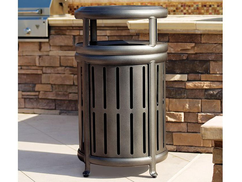 Tropitone Radiance Waste Aluminum Receptacle 980889 Ha