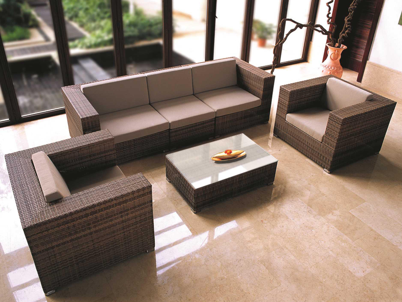 Tropitone Arzo Woven Cushion Center Module Lounge Chair