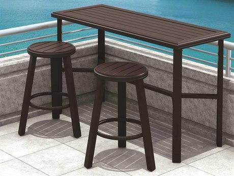 Tropitone Banchetto Seating Aluminum Bar Patio Dining Set