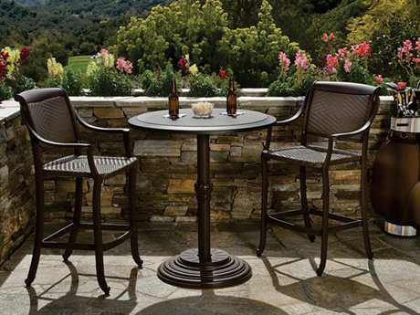 Tropitone Belmar Woven Bar Dining Set