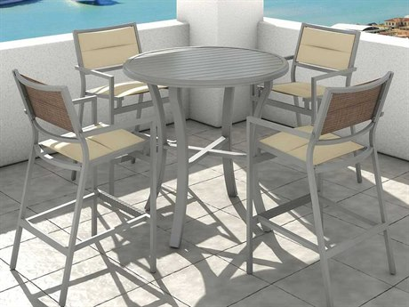 Tropitone Cabana Club Aluminum Bar Set