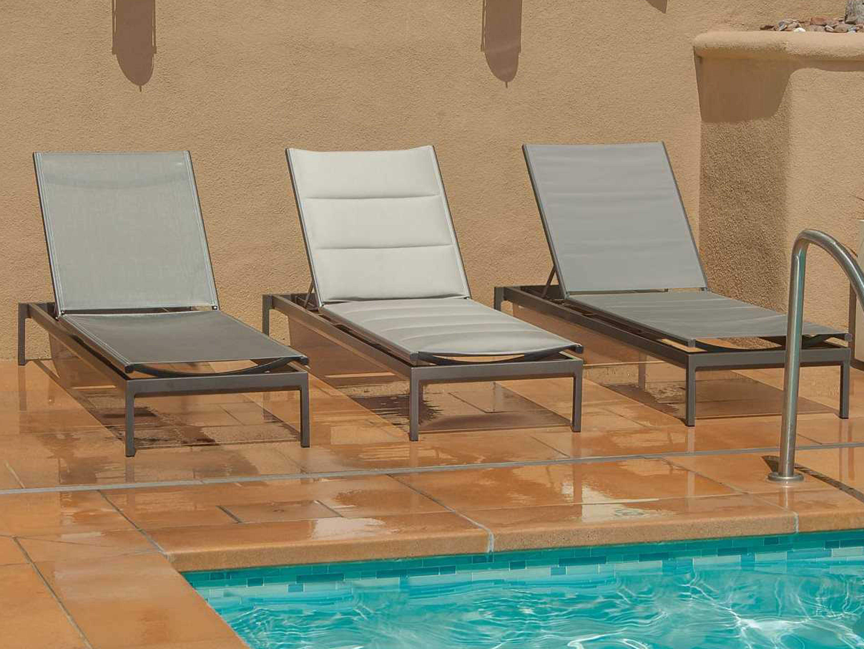Tropitone cabana club aluminum sling side chaise lounge for Cabana chaise lounge