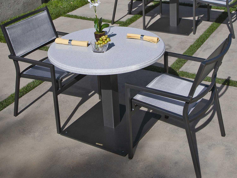 Granite Table Tops : Tropitone stoneworks faux granite stone round solid