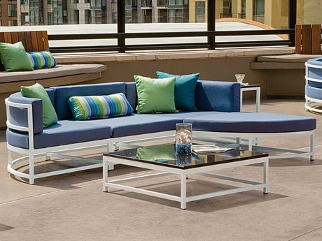 Tropitone Cabana Club Aluminum Cushion Sectional Lounge Set