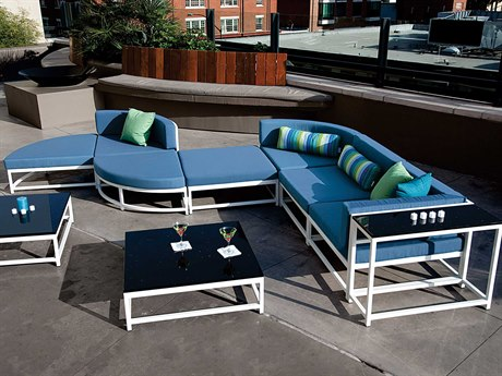 Cabana Club Aluminum Cushion Sectional Lounge Set