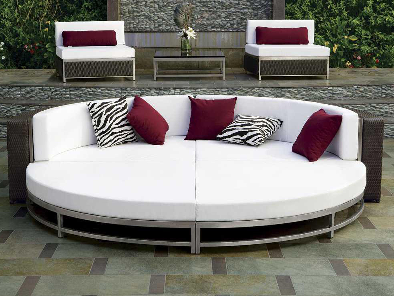 Tropitone Cabana Club Aluminum Cushion Party Sectional