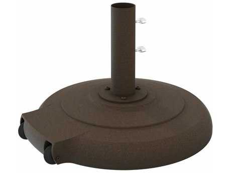 Tropitone Umbrellas Cast Aluminum 24'' 135lb Round Umbrella Base with Wheels TPCFCA24RW15125