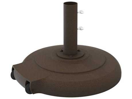 Tropitone 24'' Round 135lb Cement Filled Base w/ Wheels