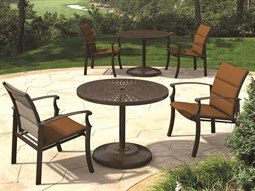 Cantos Padded Sling Aluminum Dining Set