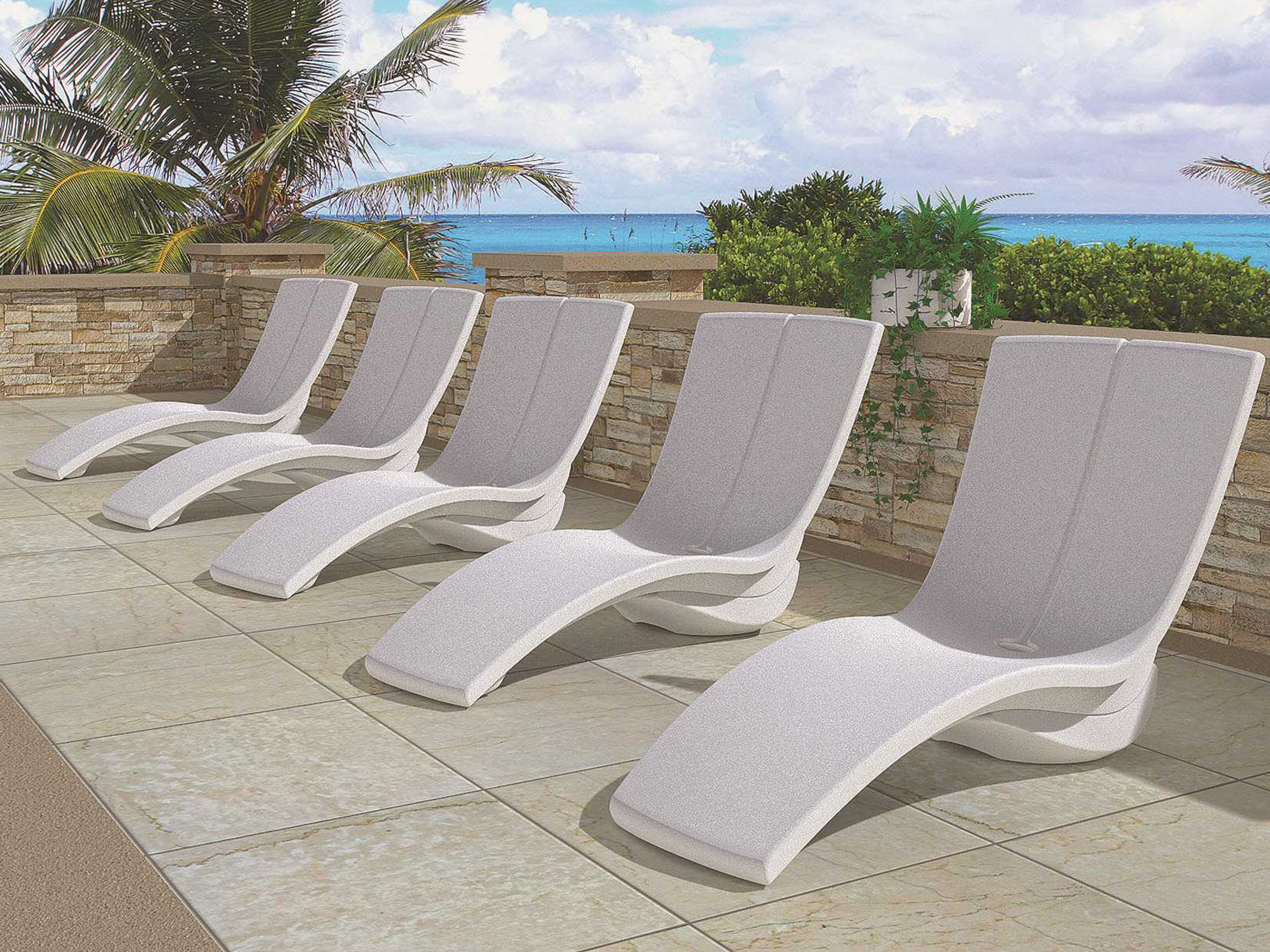 Tropitone Curve Recycled Plastic RotoForm3 Chaise Lounge with