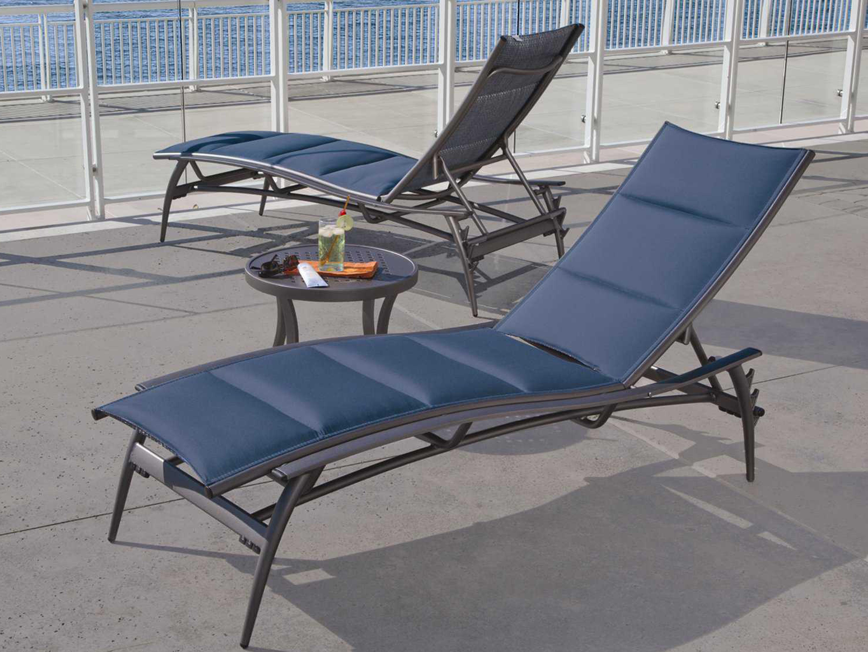 Tropitone Echo Padded Sling Aluminum Chaise Lounge