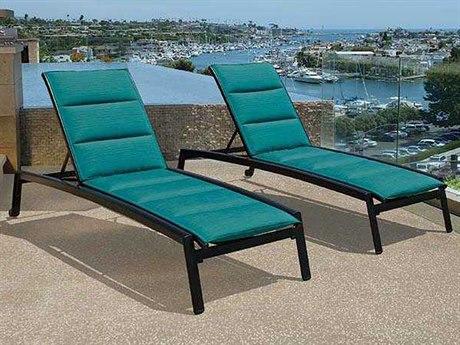 Tropitone Elance Padded Sling Aluminum Lounge Set