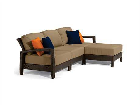 Tropitone Evo Woven Deep Seating Sectional Lounge Set PatioLiving