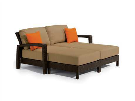 Tropitone Evo Woven Deep Seating Double Lounge Set PatioLiving