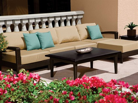 Tropitone Evo Woven Deep Seating Sectional Lounge Set