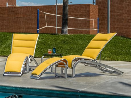 Tropitone Flair Padded Sling Aluminum Lounge Set