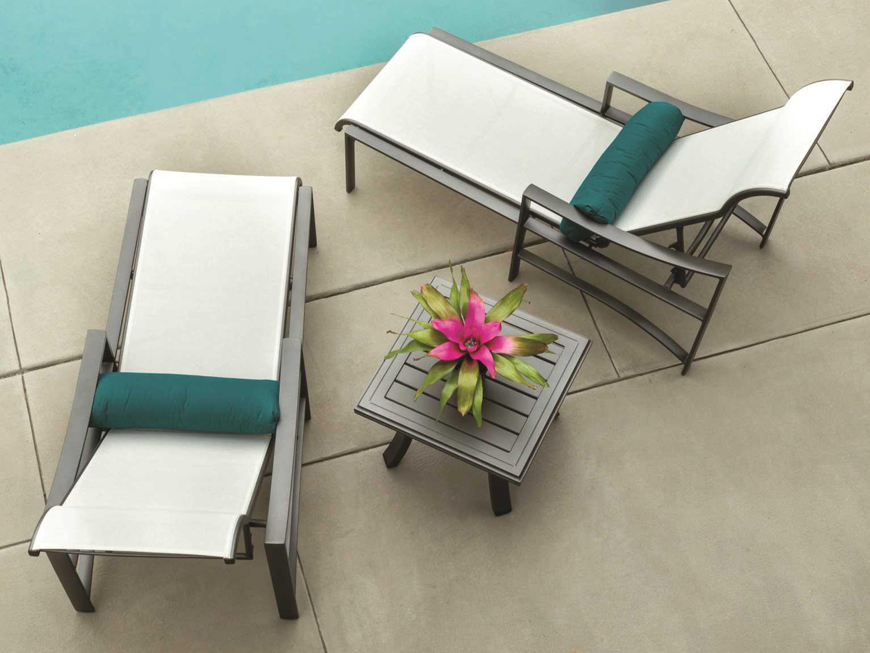 Tropitone Kenzo Sling Aluminum Lounge Set Kenzosloungeset