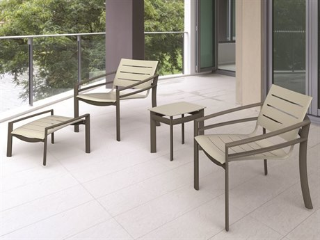 Tropitone Kor Aluminum Slat Lounge Set