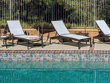 Tropitone Kor Relaxed Sling Aluminum Lounge Set