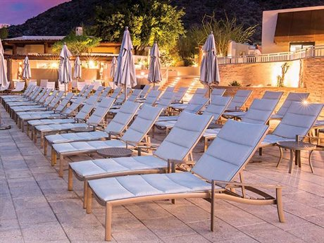 Tropitone KOR Padded Sling Aluminum Lounge Set