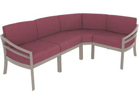 Tropitone Kor Cushion Aluminum Sectional Lounge Set