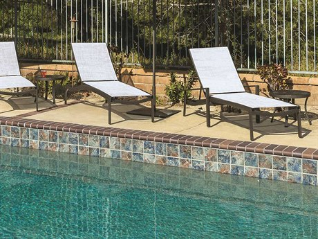 Tropitone Kor Relaxed Sling Aluminum Chaise Lounge Set