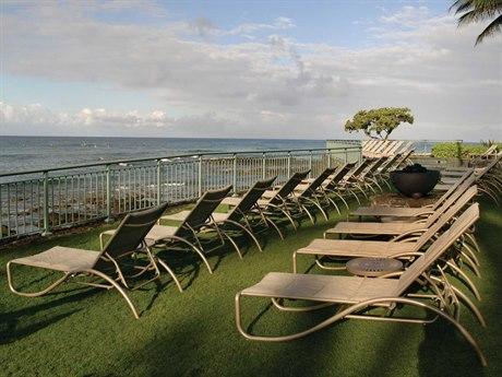 Tropitone La Scala Padded Sling Aluminum Lounge Set