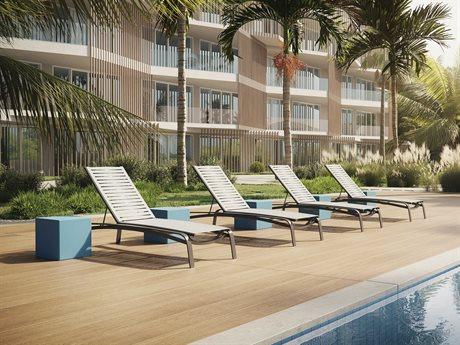 Tropitone Laguna Beach EZ Span Ribbon  Aluminum Lounge Set