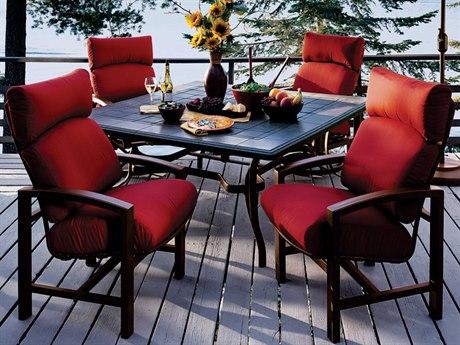 Tropitone Lakeside Cushion Aluminum Dining Set