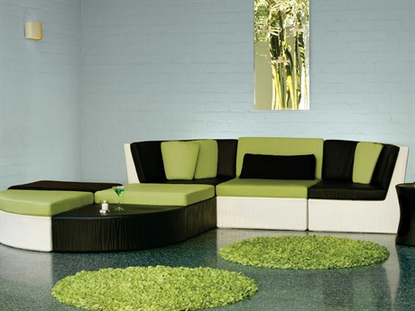 Tropitone Mobilis Recycled Plastic Sectional Set