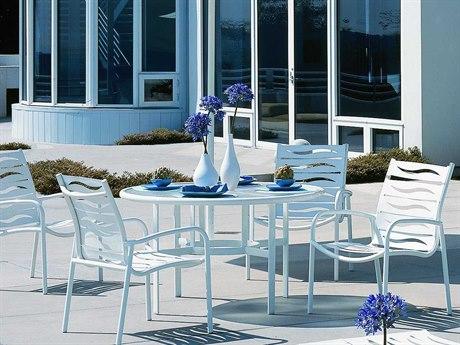 Tropitone Millennia Wave Segment Aluminum Dining Set
