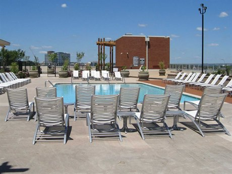 Tropitone Millennia Wave Segment Aluminum Pool Strap  Lounge Set