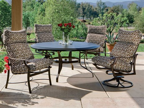 tropitone montreux cushion aluminum dining set - Tropitone Patio Furniture