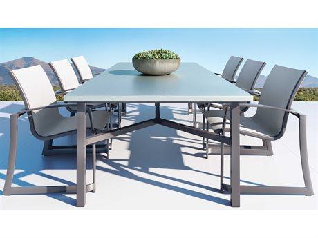 Tropitone Mainsail Sling Aluminum Dining Set