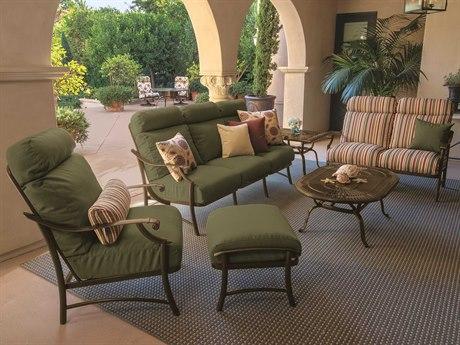 Tropitone Montreaux II RelaxPlus Cushion Aluminum Lounge Set