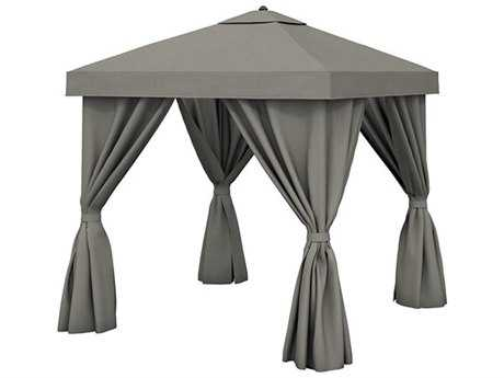 Tropitone Cabana Pavilion 8 Square with Vent and Fabric Curtains