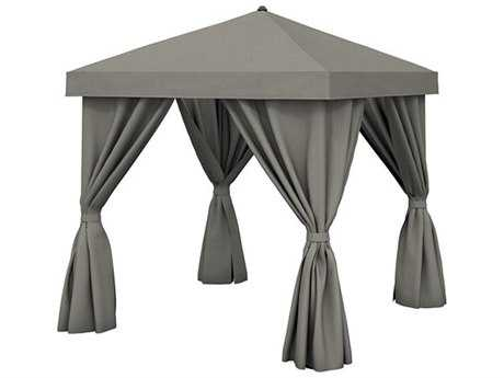 Tropitone Cabana Pavilion Aluminum 12' Square with Fabric Curtains (no vent)