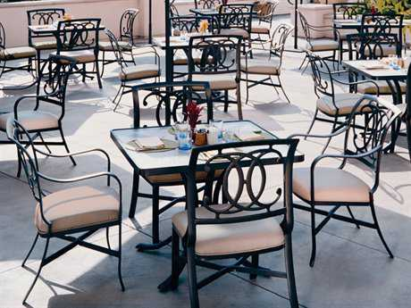 Tropitone Palladian Double C Back Cast Aluminum Dining Set