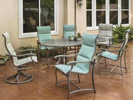 Tropitone Ravello Padded Sling Aluminum Casual Patio Dining Set